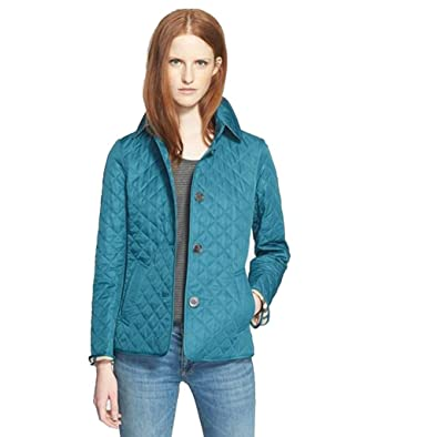BURBERRY COPFORD Quilted Jacket, Teal Blue (Small): Amazon.co.uk ... : copford quilted jacket - Adamdwight.com