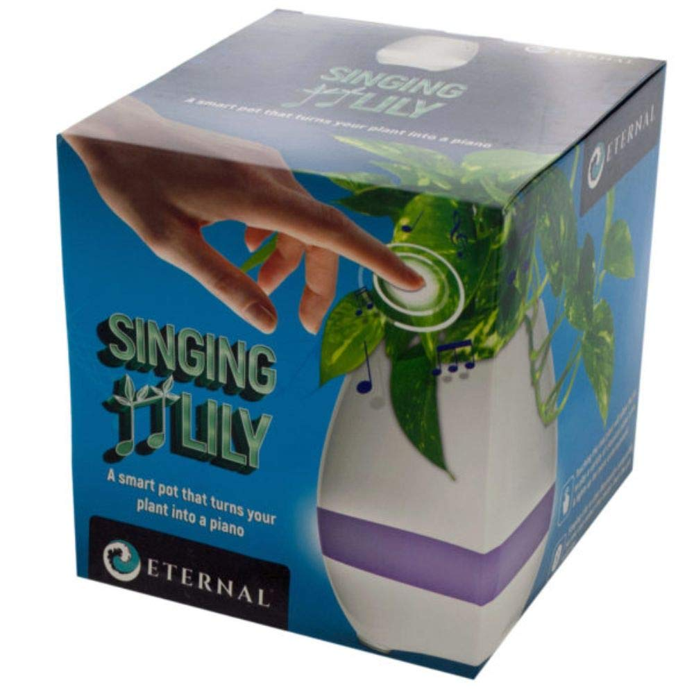 The Wholesale Shop Pack of 2 White and Purple Light Mode Singing Lily Pot by The Wholesale Shop (Image #1)