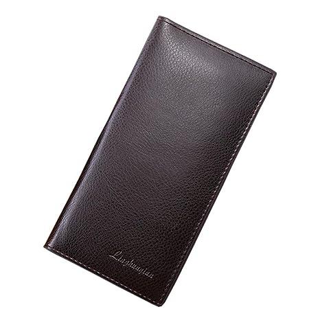 bee49e238a Porta Carte di Credito - Uomo Portafogli In Pelle Concisa Borsa Soldi  Capacità Enorme Borsa Titolare