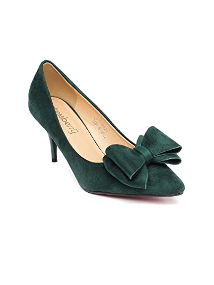 4ebac92ad2a1 DressBerry Women Green Heels (5UK)  Buy Online at Low Prices in ...