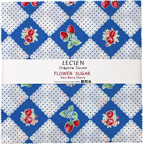 Flower Sugar Very Berry Cherry Origami Square 42 10-inch Squares Layer Cake - Cherry Creek Shops