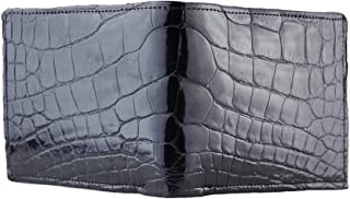product image for Black Glazed American Full Alligator Bifold Wallet Handmade by John Allen Woodward