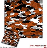 Sony PS3 Slim Skin WraptorCamo Digital Burnt Orange