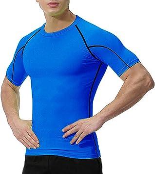 NEU Herren Funktionsshirt Sport Blau Reflektierend Sportshirt Shirt Fitness M L