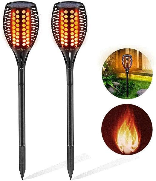 4pcs XZN /Éclairage solaire effet torche Eclairage exterieur scintillant et imperm/éable Jardin IP65 LED