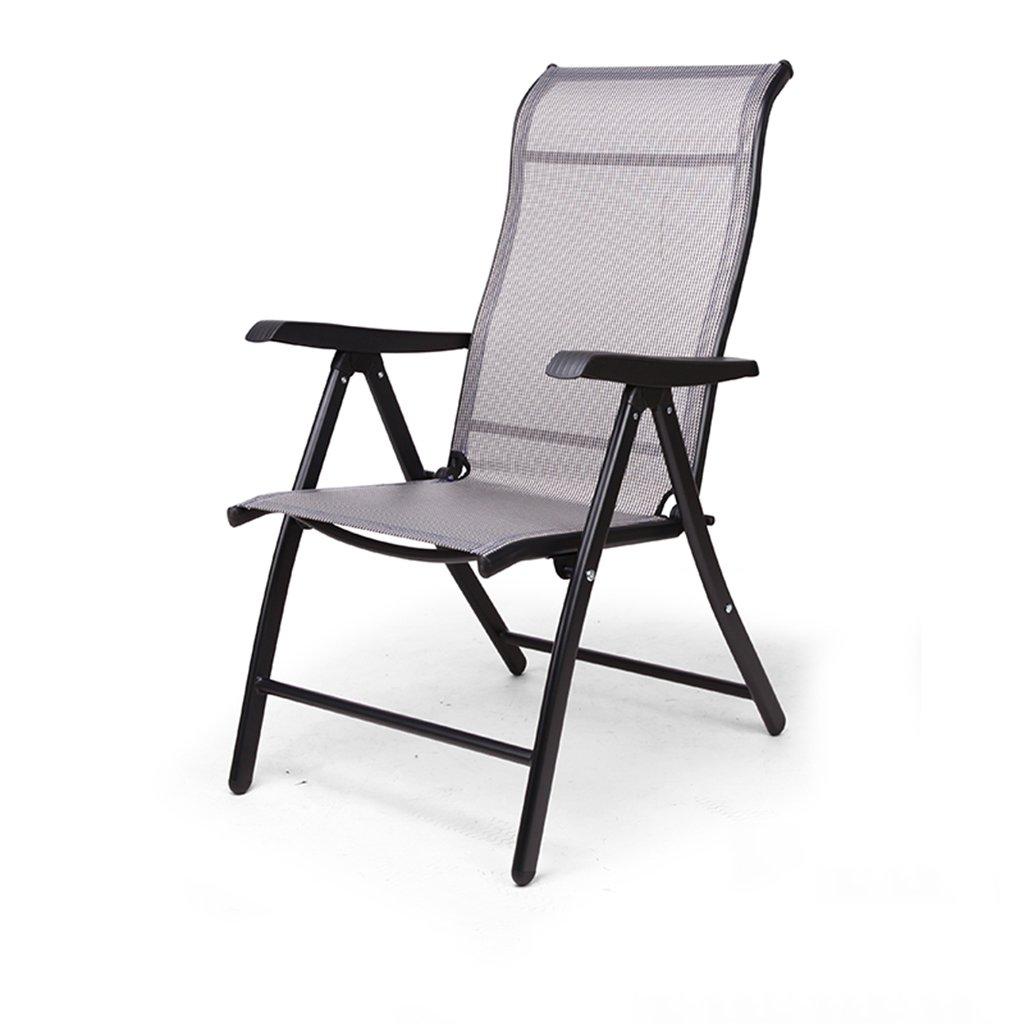 LI JING SHOP - Plier la chaise de dossier paresseux chaise de ménage Longue déjeuner casser la plage heureuse par