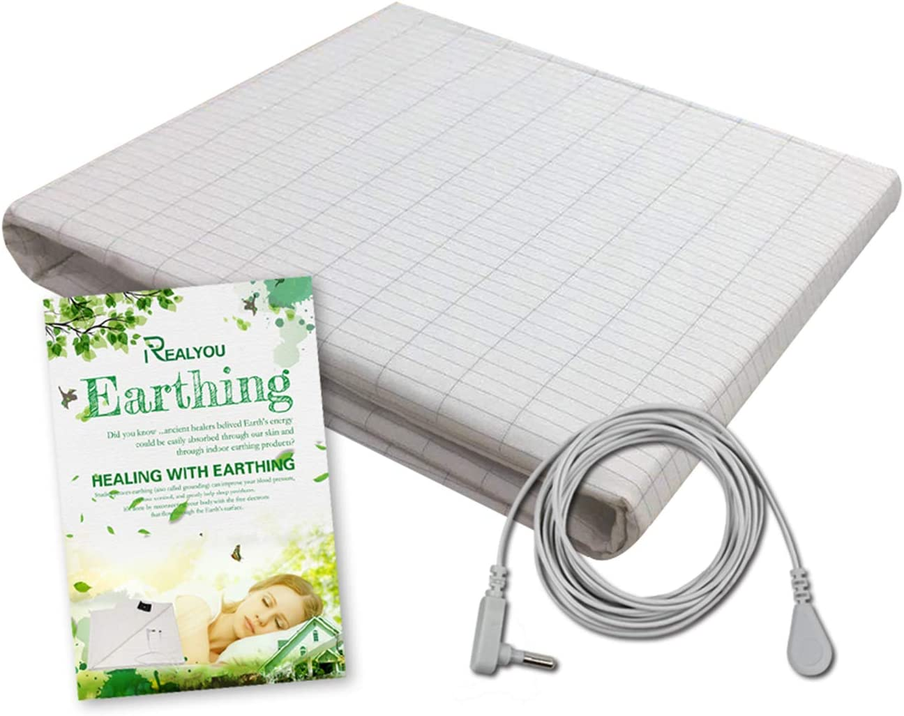 Earthing Half Sheet, Earthing Grounding Sheet for EMF protection, Improve Your Sleep, Less Pain and Inflammation/Healthy Conductive Silver Fiber Mat (Sheet 25x52 inch)