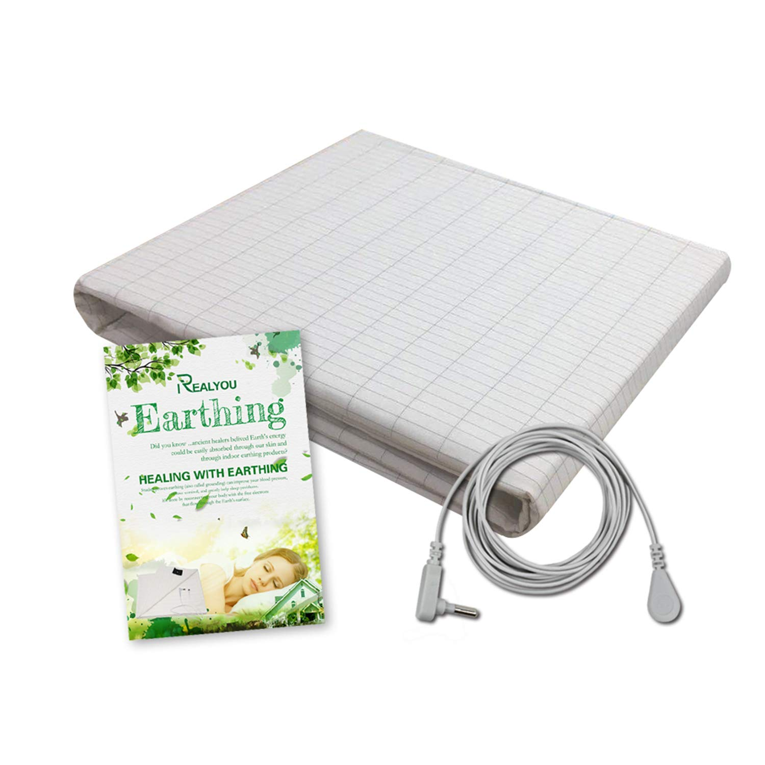TALC Earthing Half Sheet, Earthing Grounding Sheet for EMF Protection, Improve Your Sleep, Less Pain and Inflammation/Antimicrobial Conductive Silver Fiber Mat (Sheet 25x52 inch) by TALC