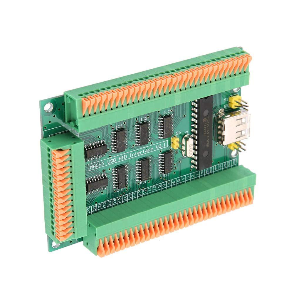 f/ür alle Windows Mach3-Versionen Plug /& Play 64 digitalen Eing/ängen USB-Karte der Schnittstellenkarte USB-Kabel mit integriertem Ger/ät 4 Encoder-Eing/ängen 4 analogen Eing/ängen
