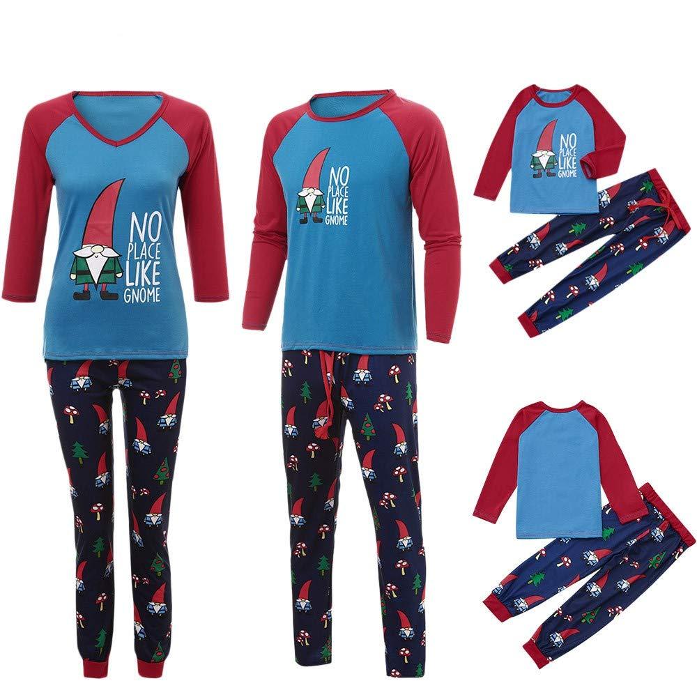 Famiglia di Natale Abbinamento Pantaloni da Notte Pigiami Due Pezzi Famiglia coordinazione Donna Uomo Bambini Ragazzo Ragazza Natale Famiglia Montato Famiglia Set Abbigliamento Vestiti per la casa