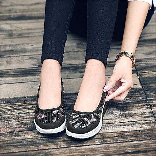 planos verano primavera zapatos Slip Zapatos mujer perezosos ocasionales trabajo zapatos on de para zapatos Do lentejuelas SHINIK holgazanes caminar redondeados xnwCvSAqn