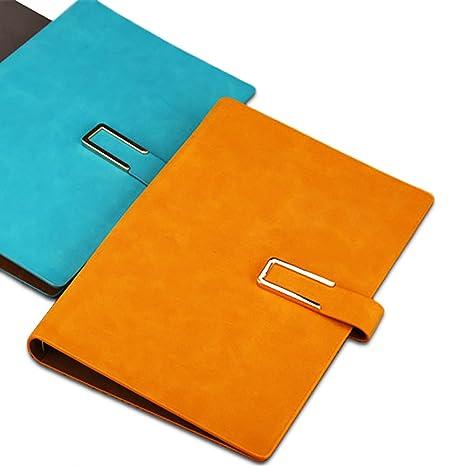 en soldes le magasin chaussures exclusives Zhi Jin A5 Cuir Carnet de notes rechargeable à anneaux Anneaux Journal  bloc-notes Agenda Filler papier Boucle porte-stylo bleu lac