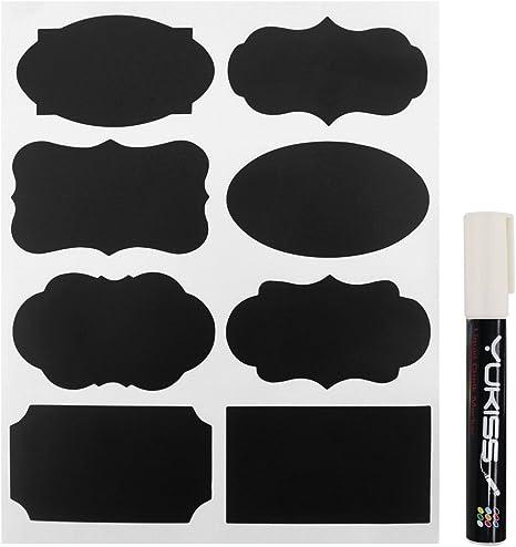 Jar Labels Chalkboard Stickers with Free Chalk Ink Marker by Simple Shapes Chalkboard Labels