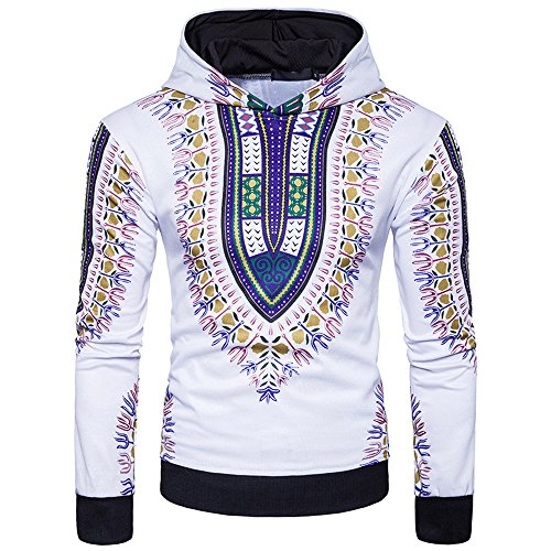 7762936d82f801 ShenPr Men s Long Sleeve African Print Dashiki Sweatshirts Pullovers Tops  Fashion Hoodies Sweatshirts by ShenPoutor Men s Hoodies