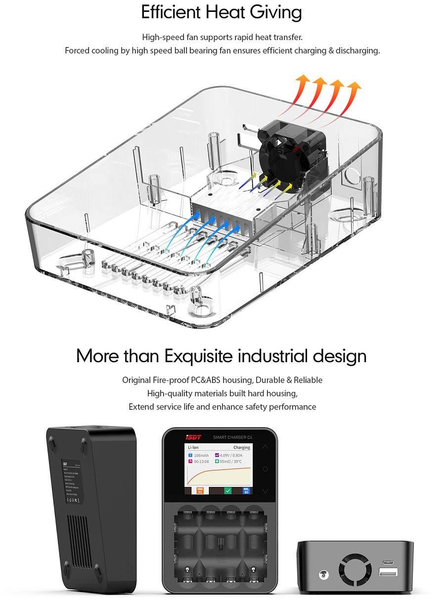 Amazon.com: ISDT C4 8A - Cargador de batería con pantalla ...