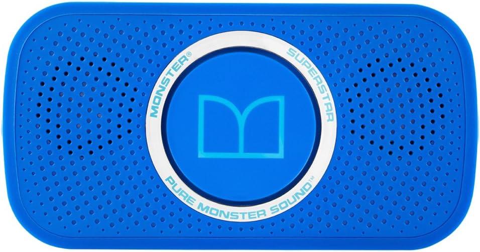 Monster MSP SPSTR BT BL N-BL WW Power Superstar High Definition Bluetooth Speaker (Blue)-Ultra compact, Water-resistant