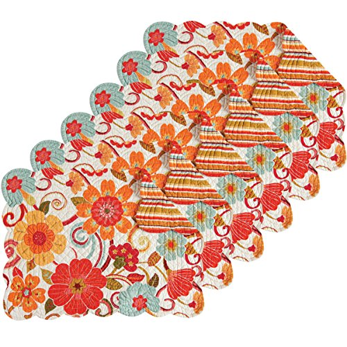 (Giselle 13x19 Quilted Rectangular Placemat Set of 6)