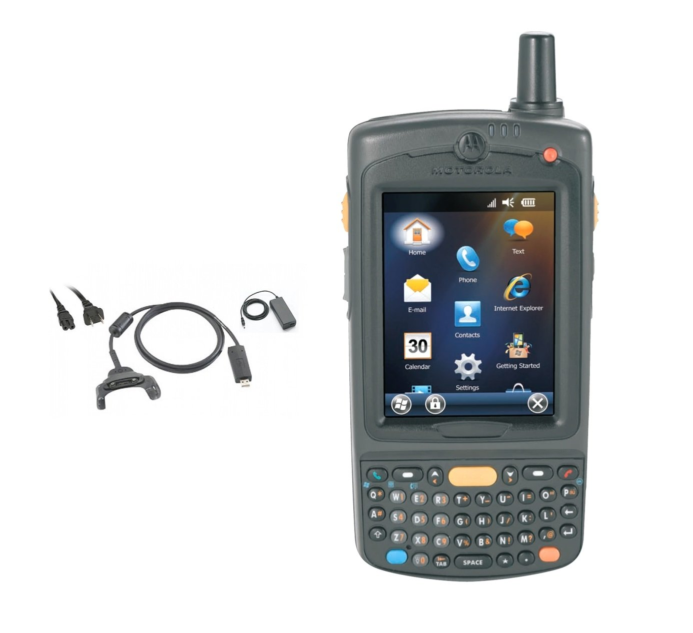 Symbol MC75 Wireless Handheld Kit 2D 1D Barcode Scanner Wifi Gps Gsm Cell Windows Mobile 6.5 Charger