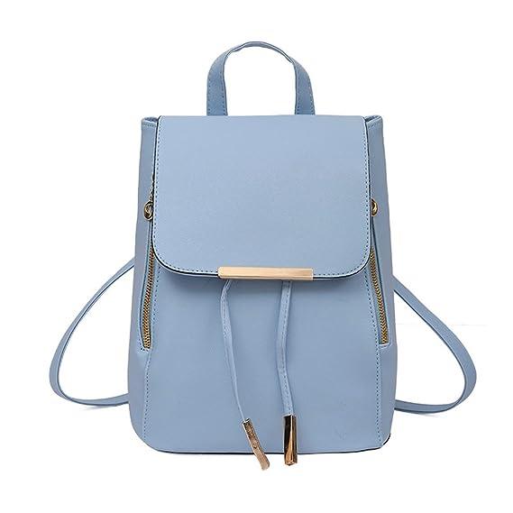 fe0a031041f00 Rucksack Kolylong® 1Set 2 PCs Damen Vintage Rucksack PU Leder Elegant  Schultasche für Mädchen Rucksackhandtaschen