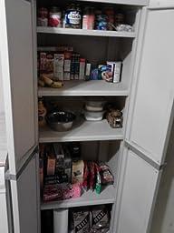 Amazon Com Sterilite 01428501 4 Shelf Cabinet With Putty
