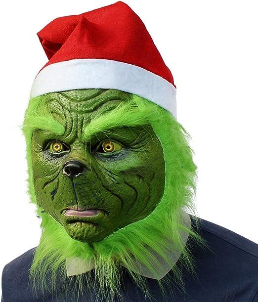 Yissma Grinch Máscara de látex Verde para Disfraz de Cosplay ...