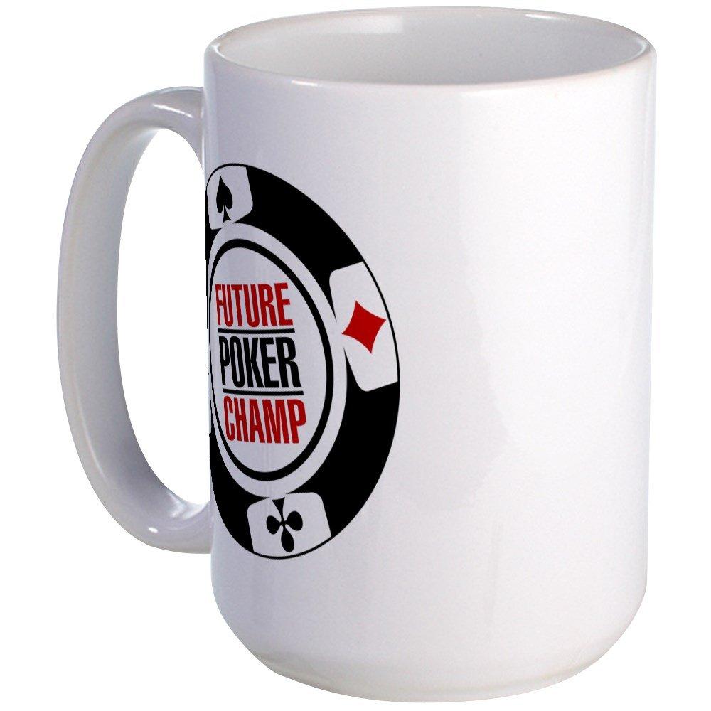 95b8a9ab77d Amazon.com  CafePress - Future Poker Champ Large Mug - Coffee Mug ...
