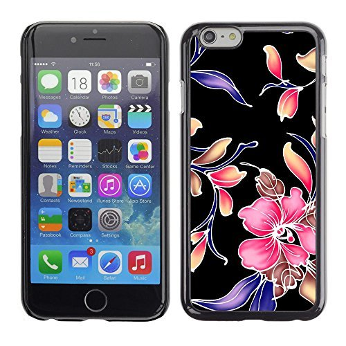 BLOKK CASE / Apple Iphone 6 / retro fabric wallpaper rustic pattern floral / Slim Black Plastic Case Cover Shell Armor