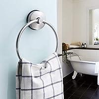 Suction Cup Towel Ring Holder Shower Towel Hanger Bathroom Kitchen Storage Stainless Steel Brushed
