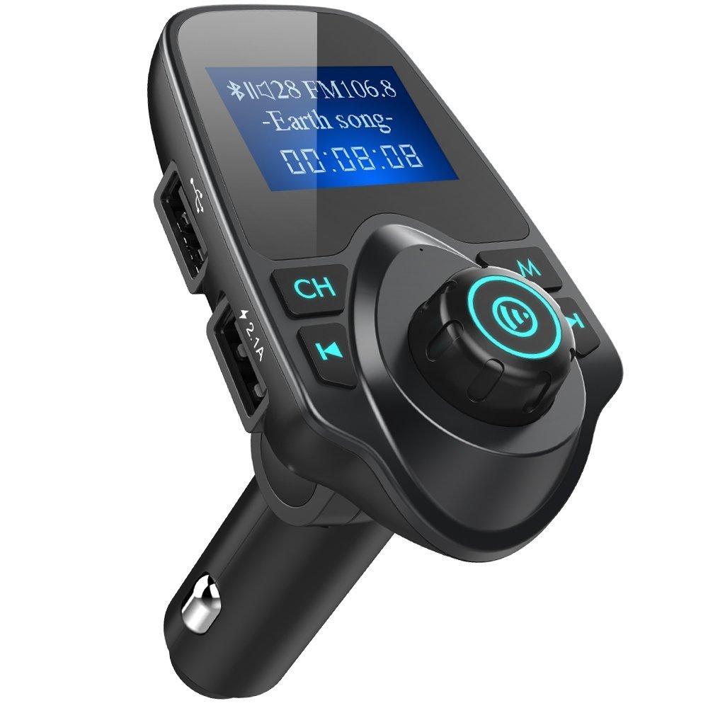 iSunnao Bluetooth FM Radio Transmitter Car Kit, Black