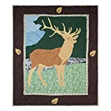 Patch Magic Elk Quilt Crib, 36 by 46-Inch, Brown