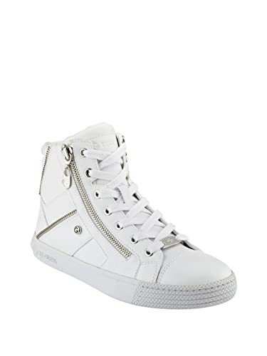Sneakers for Women On Sale, White, Leather, 2017, 8.5 Guess