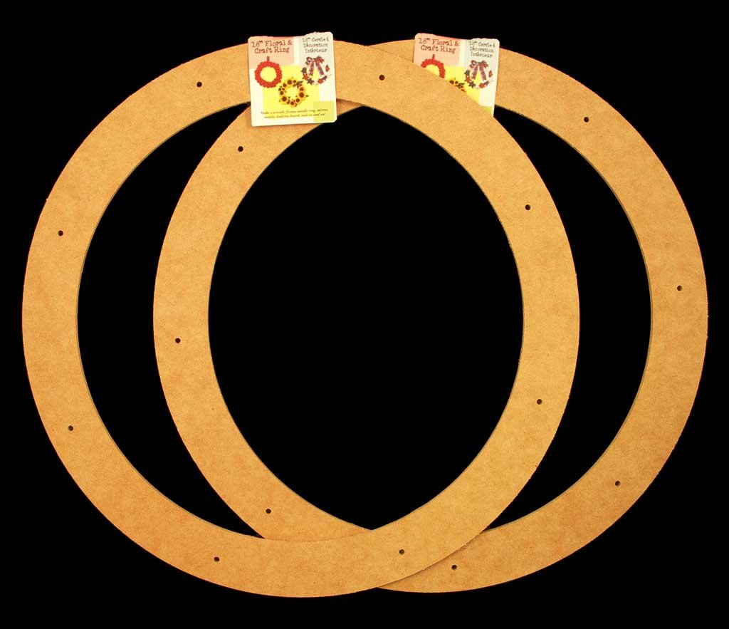 2 Pack, 18'' Biodegradable Floral Craft Ring, Ez Glueable Wreath Form, for Photo Frame, Other Arts , Props and Crafts Projects