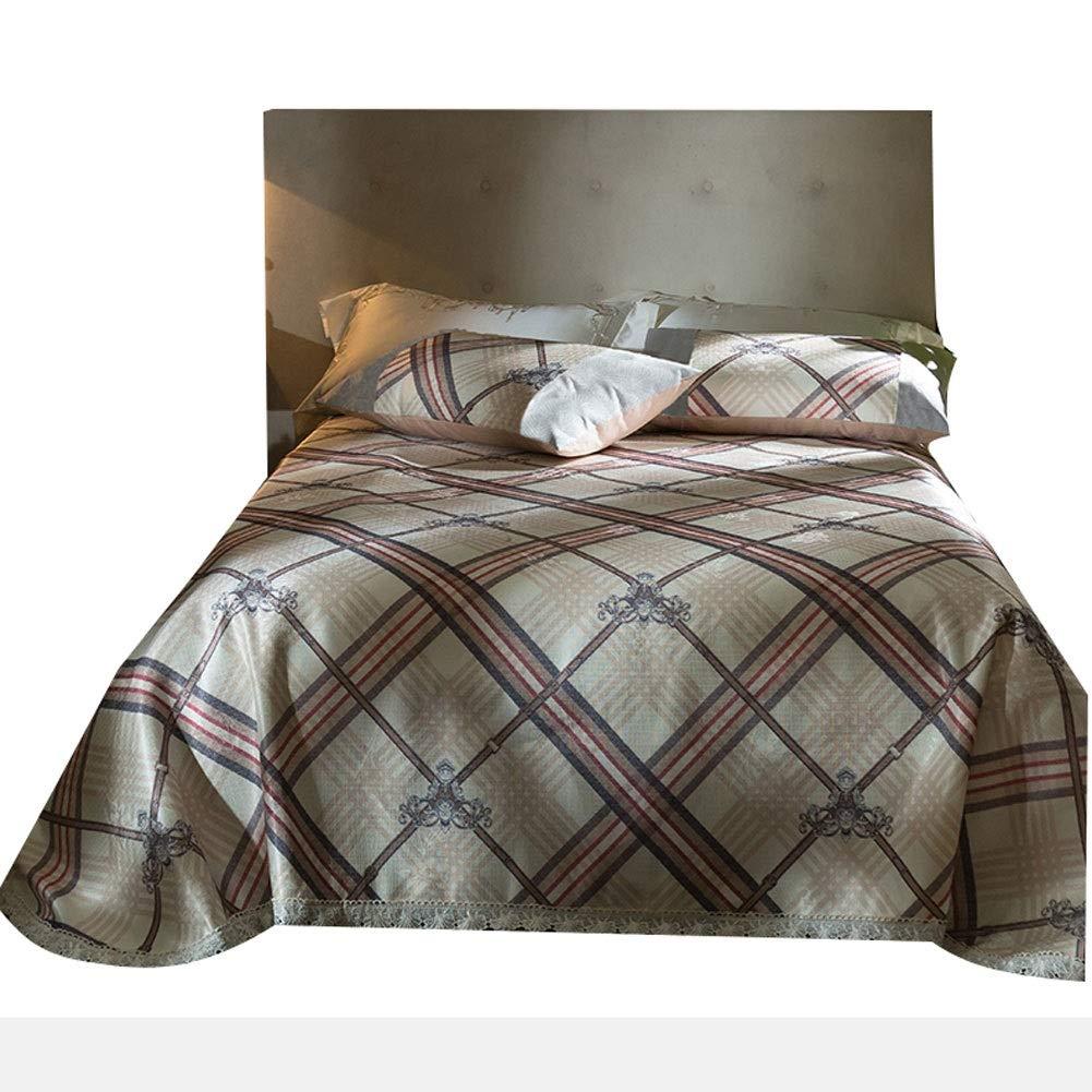 アイスシルクマットベッドシーツサマースリーピングパッド冷却サマースリーピングマットと枕シャムセットスリーピーススーツ-5スタイル (Color : B, Size : 1.5x2.0m bed) B07T65K4M7 B 1.5x2.0m bed