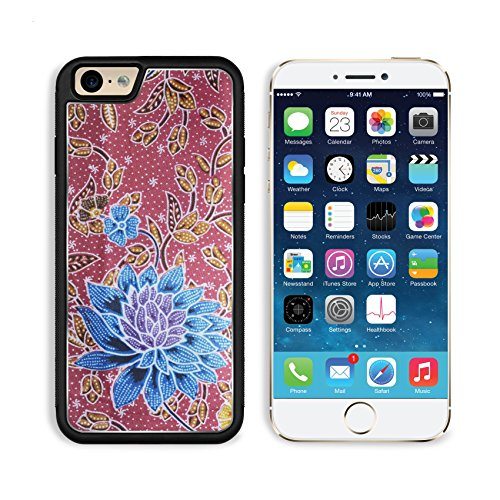[Apple iPhone 6 6S Aluminum Case Beautiful batik patterns IMAGE 34346030 by MSD Customized Premium Deluxe Pu Leather generation Accessories HD Wifi Luxury Protector] (Air Malaysia Costume)