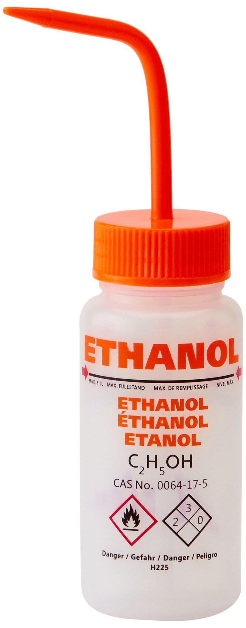 AZLON WGW535VTML Plastic, Wash Bottle, Ethanol LDPE, Vent (Pack of 5)