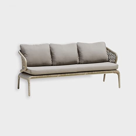 dafnedesign - divano-sofà de jardín - 3 plazas, ancho Color ...