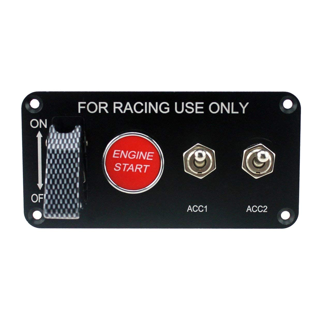 Racing Car 12V Ignition Switch Panel Engine Start Button LED Toggle 2-Gear Professional Switch for Car Modification