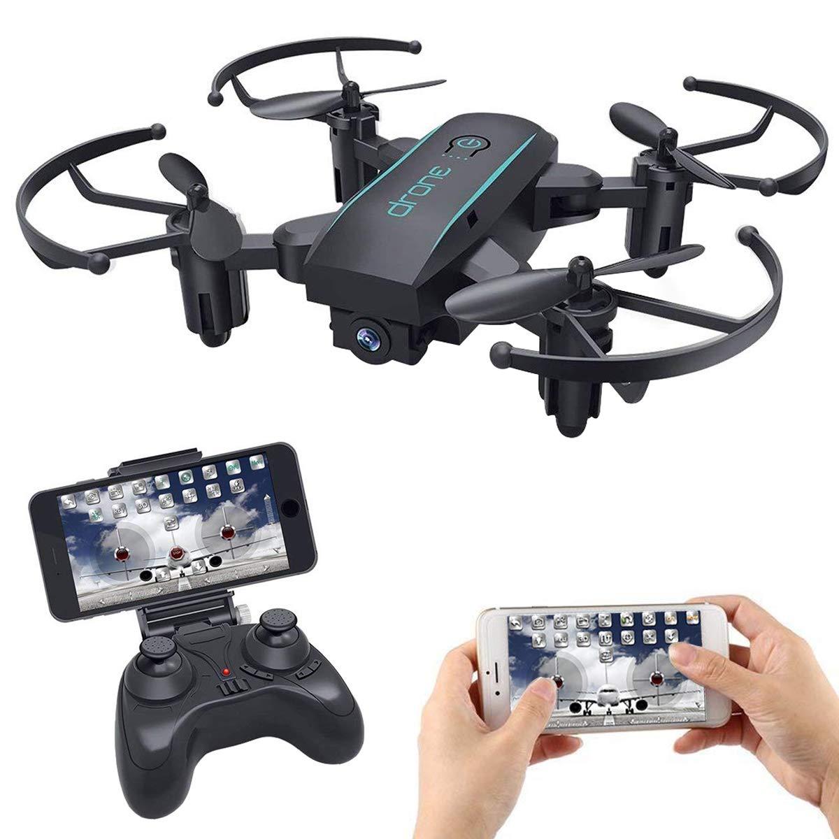 Mini Drone pour Cadeau de No/ël 2.4GHz 4 CH RTF Rc Elicottero Quaquot con Altitude Hold MakerStack Mini Drone FPV con WiFi Camera HD 720P Live Video Controllo vocale