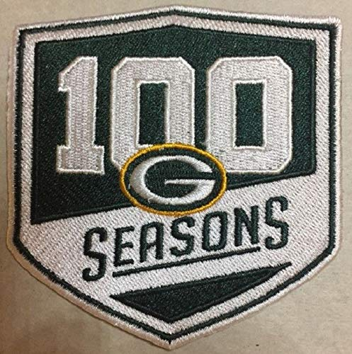 """Green Bay Packers 100 Seasons Patch 100th Season Rodgers & Sticker Best Quality 3.75"""" X 4"""""""