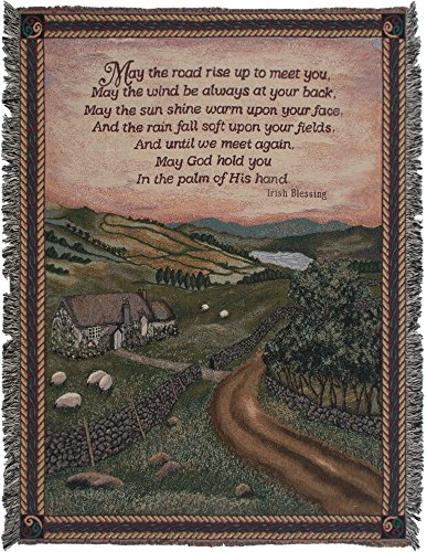 Charlotte Home Furnishings Inc. Old Irish Blessing Tapestry Throw
