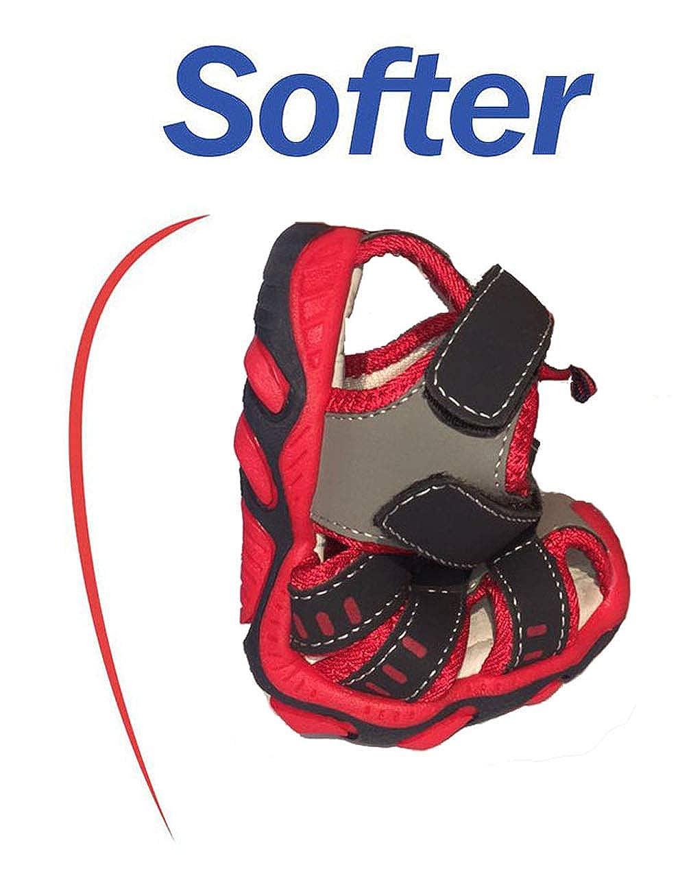 Sandalias Punta Cerrada para Unisex Ni/ños Flexible Suave Sandalias para Ni/ñas Ni/ños Verano Playa Anti-Deslizante Zapatillas