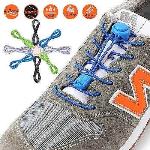 YADEA Shoelaces Reflective Silicone Sneakers