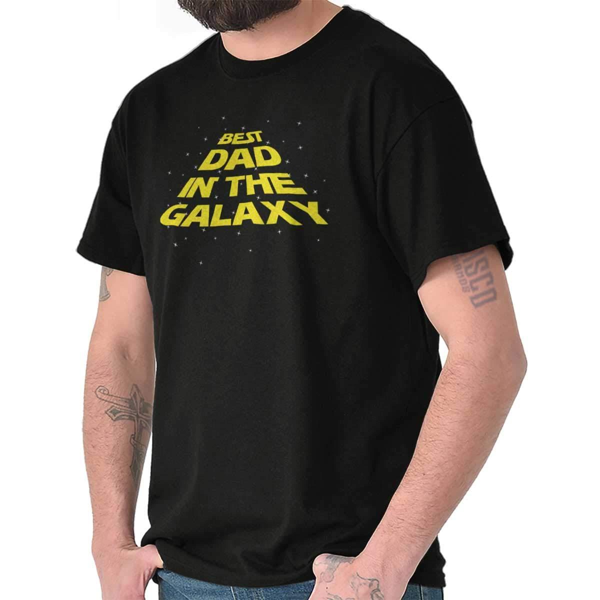 Brisco Brands Best Dad in The Galaxy Star Han Solo Wars Yoda Chewbacca Kylo T-Shirt Tee