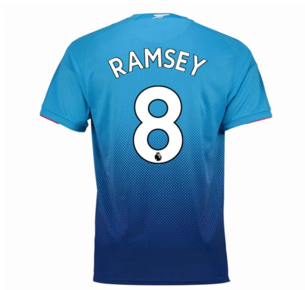 2017-2018 Arsenal Away Football Soccer T-Shirt Trikot (Aaron Ramsey 8) - Kids