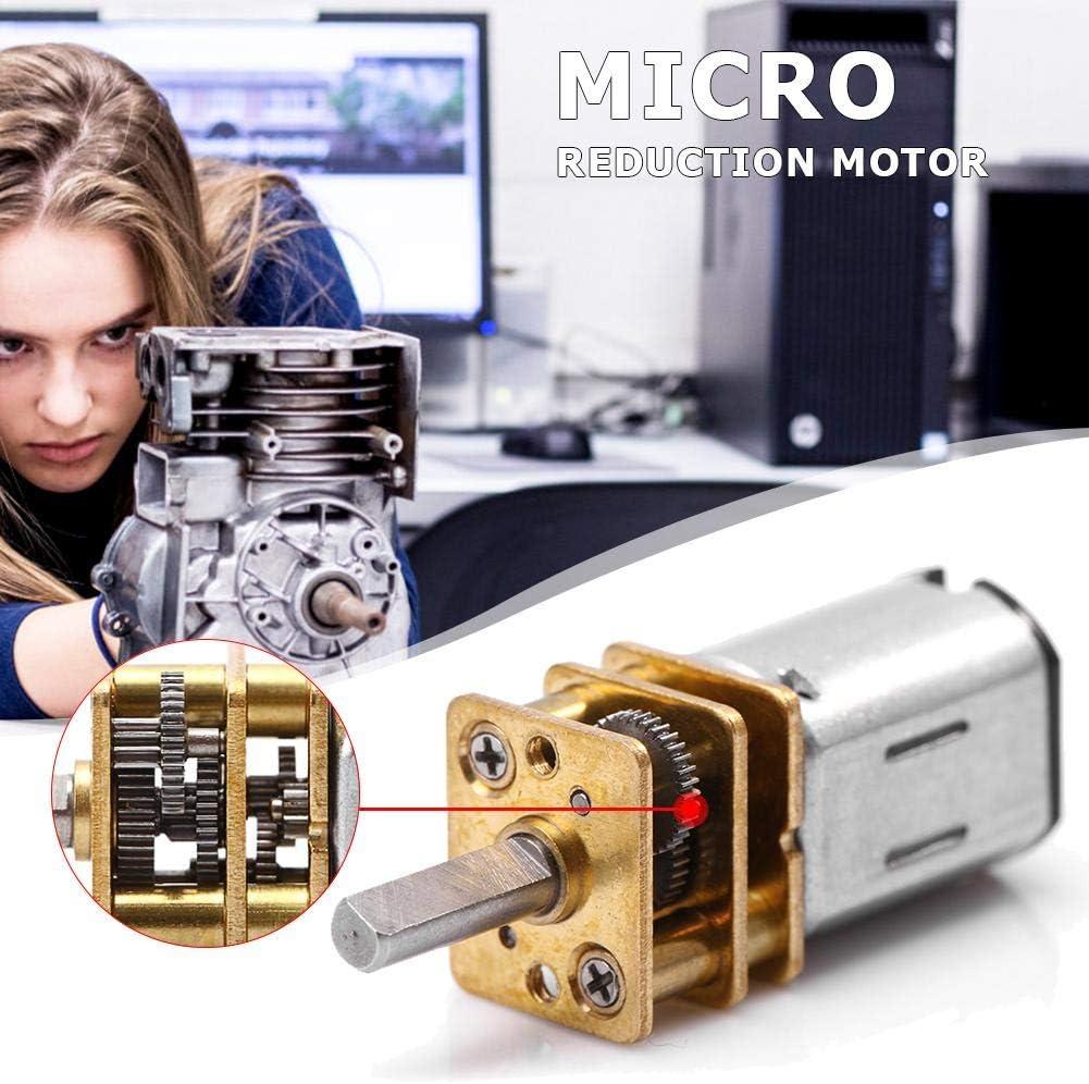 Seawang Motoriduttore Micro Motoriduttore con Ruota dentata DC Motors Micro riduzione del Motore 30RPM in Acciaio Inox