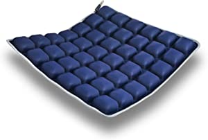 HOMMIESAFE Car Seat Cushion Water Fillable Chair Pad for Wheelchair, Office Chair, Cars, Home Living, Pressure Relief Pillow, Adjustable Volume & Softness – Cool Non-Slip Hip Protector (Dark Blue)