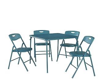 Amazon.com: Mesa plegable y sillas Cosco Products, 5 piezas ...