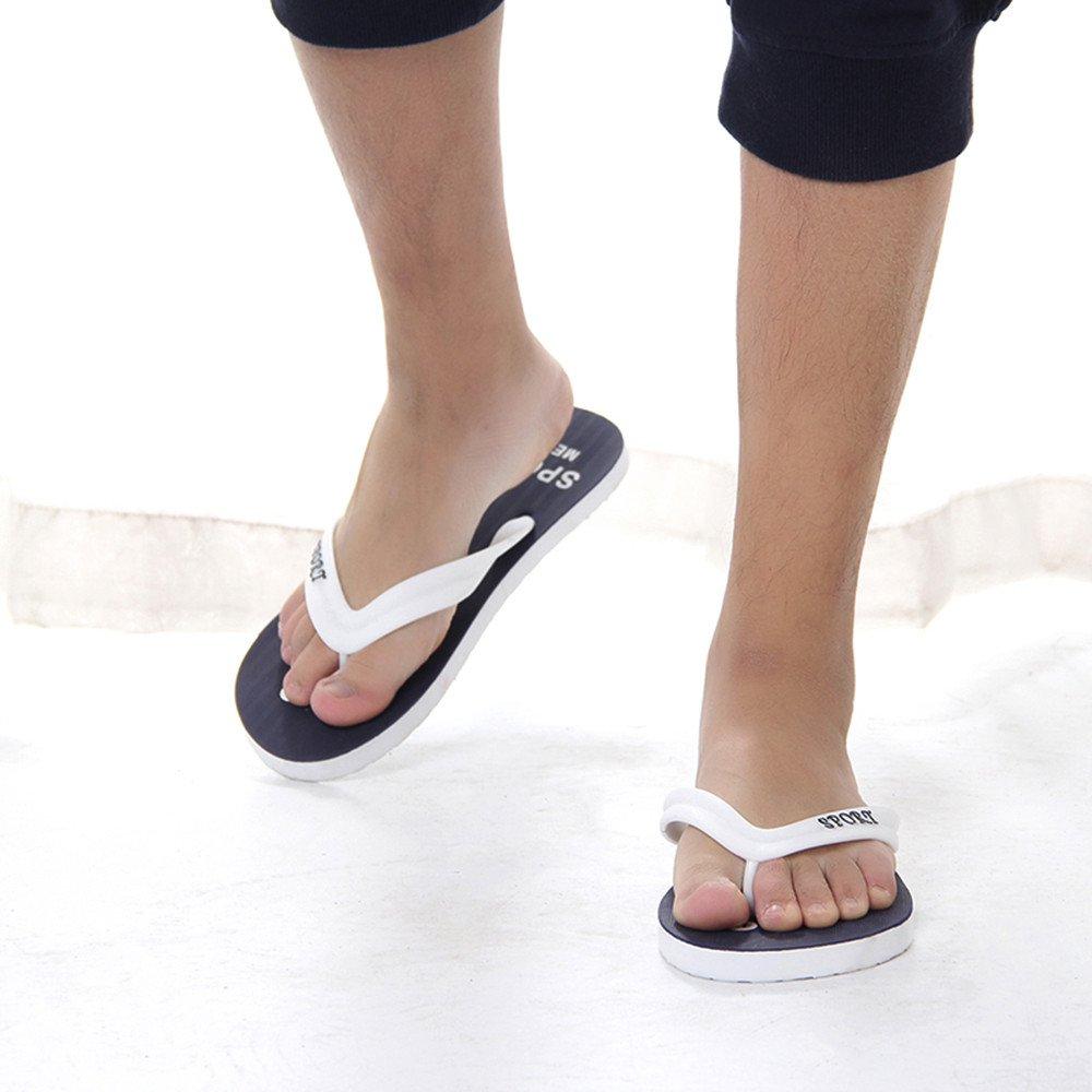 Mens Platform Flip-Flops Slippers Beach Sandals Indoor /& Outdoor Casual Shoes