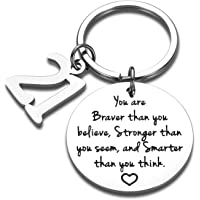 Sweet 21st Birthday Inspirational Keychain Gift for Women Man Christmas Gift for Son Daughter New Year Graduation Bday…