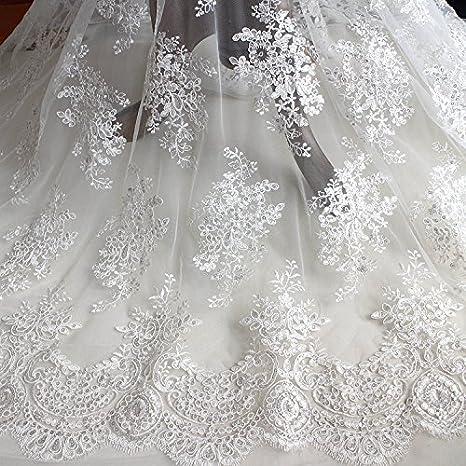 Braut Abendkleid Bestickt Spitze Rand Kostüm Basteln Verschleierung DIY Band 1
